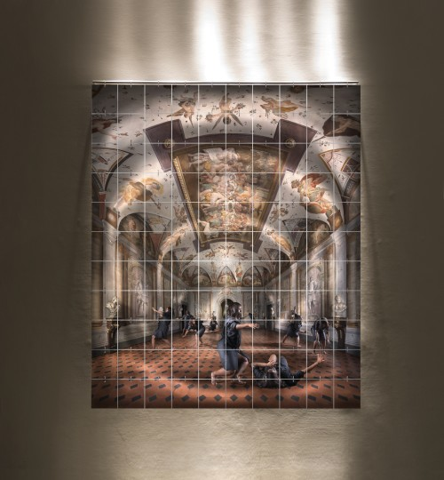 Images on glass, light, iron 282x234x27cm Edition of 3